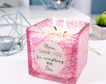 Candle For Mum - Mother's Day Candle - Thank You Mum Candle For Mother's Day - Hand Poured Candle - Thank You Mum Gift - Mother's Day Gift