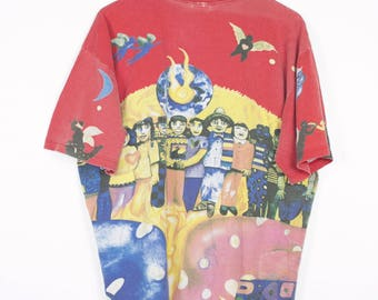 SANTANA all over print shirt - vintage 90s