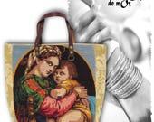 Tapestry Purse, Canvas Handbag Virgin : L'Ethel