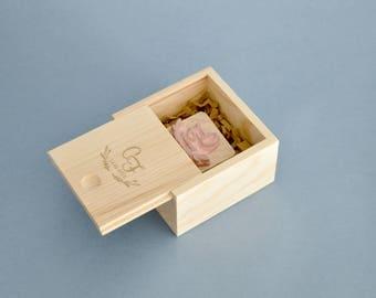Scatolina in legno per timbro - confezione regalo timbro