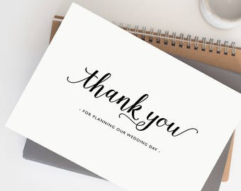 Thank you for Planning our Wedding - Card for Wedding Planner - Wedding Planner Card, Wedding Thank You Cards, Wedding Organizer Card, K3