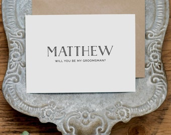 Personalised Best Man Card, Custom Best Man Card, Will You Be My Best Man Card, Best Man Card Groomsman Will You Wedding Card K5
