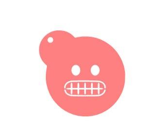 Grimacing Emoji Cookies, Grimace Emoji Stencil, Teeth Emoji Cookies, Teeth Emoji Stencil, Emoji Baking Stencil, Emoji Cake Stencil