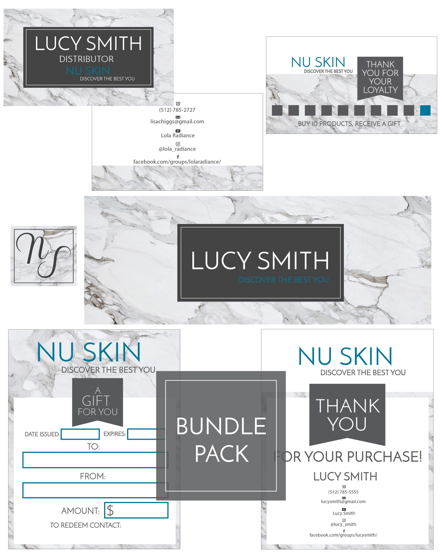 nuskin bundle pack direct sales marketing kit business card