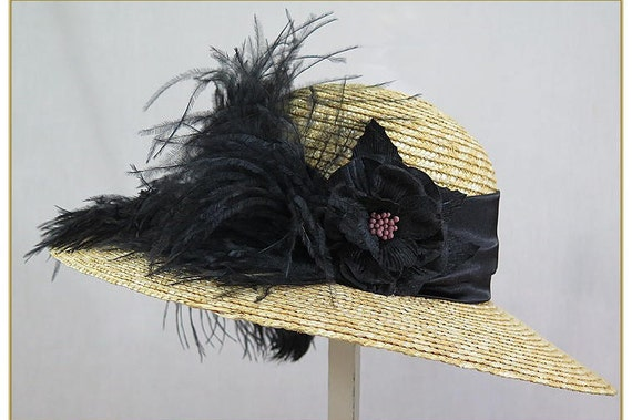 Victorian Style Hats, Bonnets, Caps, Patterns Victorian Black Feather HatVictorian Black Feather Hat $59.00 AT vintagedancer.com