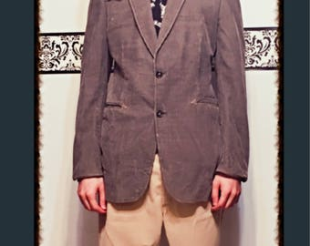 1980's Light Cocoa Brown Corduroy Sports Coat by Campus Ésprit, Size 40R Medium, 80's Corduroy Professor Blazer, Dr Who 80's Hipster Jacket