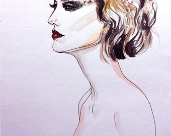 Dior Haute Couture Runway Beauty Illustration Original Wall Art