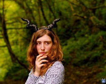 Black Demon Horns, Small Horns, maleficent, Gazelle,  Dragon, Antelope, Cosplay, Horns,  Fursuit, Pet Play, Kitten Play, BDSM, LARP, Theatre