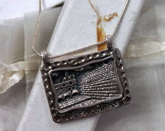 The Wall or The Kotel Pendant Necklace