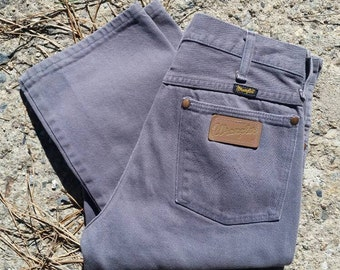 Vintage 80s Wrangler Jeans Charcoal Gray 29x34