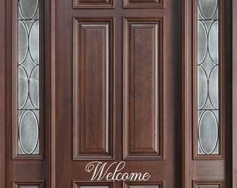 Welcome Front Door Vinyl // Welcome Decor Vinyl // Home Vinyl // Decals // Removable Vinyl // Home Decor // Front Door Decal //