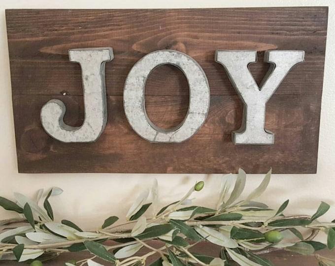 Joy sign - Mantel Decor - Wall Decor - Shelf Decor