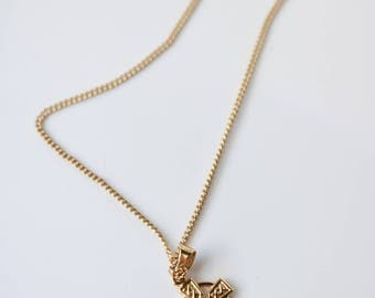 Gold Tone Cross Necklace - Dainty Cross Necklace