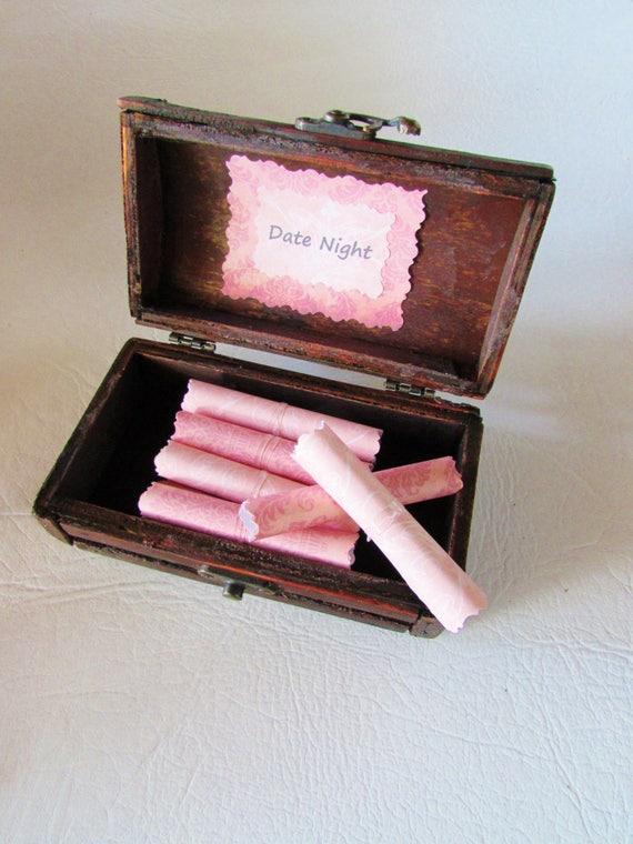 Wood Anniversary, Romantic Gift, Wife Anniversary, Girlfriend Anniversary, Wife Birthday, Date Night Scroll Box, Girlfriend Birthday Gift