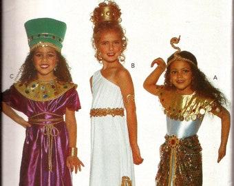 Girls Cleopatra Egyptian Costume Pattern / Butterick 3586 / Size 4 - 14 / UNCUT