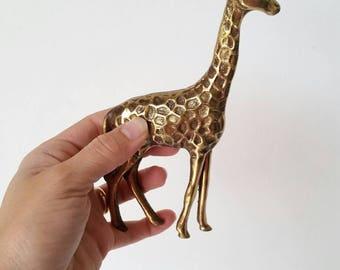 """Vintage 6"""" Brass Giraffe"""