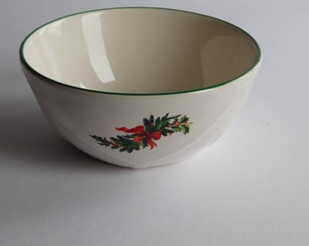 "Vintage Pfaltzgraff Christmas Heritage 5"" Basket Bowl 511226"