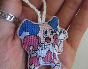 Mr. Mime Pokemon Charm for Keychain, Backpacks, Purses, Bags, Rearview Mirrors, Christmas Trees