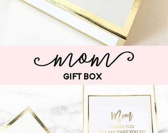 Holiday Gifts for Mom Christmas Gift Ideas Mom Gift Basket Mom Gift Box Mom Gifts for Christmas Gifts for Mom (EB3171BPW) EMPTY BOX