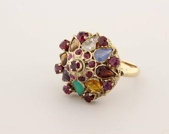 14K Gold Thai Princess Ring