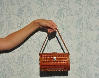 Small wicker handbag, wicker purse, vintage wicker purse, wicker handba, small wicker bag, small wicker purse