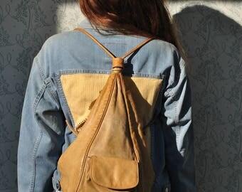 Backpacks purses, backpack leather, leather backpack, backpack women, backpack vintage, beige leather backpack, backpacks for women