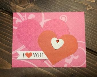 Valentine Greeting Card, Husband, Wife, Boyfriend, Girlfriend, Love Interest, Sweetheart, Hand Made