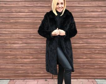 Mink Coat, Fur Mink Coat, Black Mink Coat, Belted Mink Coat, Mink Stole, Mink Jacket, Black Mink, Brand NEW Mink Coat, МЕХА