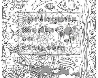 Cat Coloring Page Minkas Journey Animal And Nature Pages To Color Ocean Fish