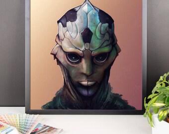 Thane (ME2 Mass Effect) Framed poster