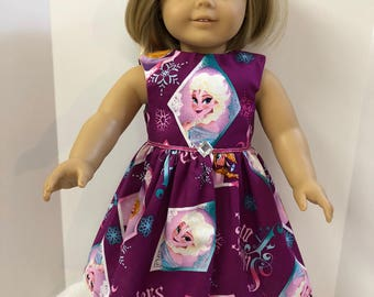 18 inch Doll Clothes, Frozen's ELSA & Anna Disney Dress, 18 inch AG American Doll Clothes, Disney's Frozen, Elsa and Anna - Sisters Forever!