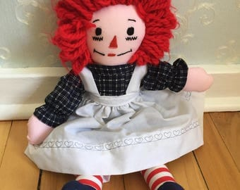 Vintage 1980s Raggedy Ann Rag Doll!