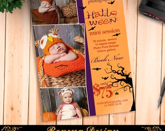 Halloween mini sessions template, Halloween marketing, Fall Mini Session Template, Halloween Photoshop PSD - Instant Download