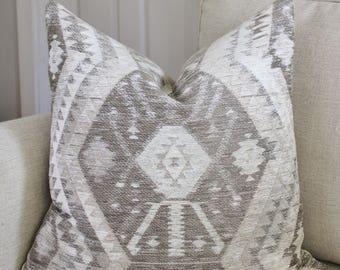 Southwestern Pillow Cover // Tribal Southwestern Neutral 18x18 20x20 22x22 24x24 26x26 Pillow Cover
