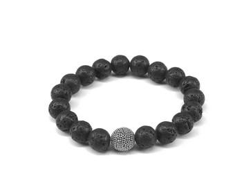 Essential oils bracelets, Diffuser Bracelets, Lava Stone Jewelry, Mens Bracelets, Natural Stones Bracelets, lava stone diffuser necklace