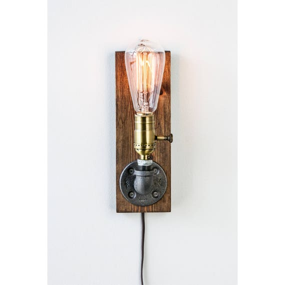 Industrial wall Lamp - Sconce - Wall Light - Steampunk Lamp  - Edison Lamp - Vintage Light - Pipe Lamp - Bedside Lamp - Loft Lighting
