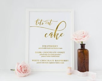 wedding cake flavour sign wedding cake sign etsy 22662