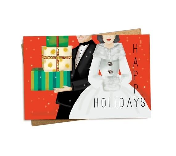 Christmas Card. Holiday Couple