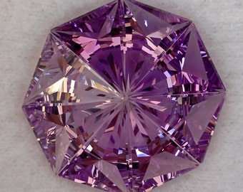 Amethyst | 14.62ct | Precision Cut |  Colour Shading palette