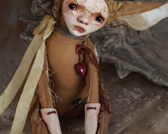 STIGUR - art doll - ooak - solf sculpture - original art - figurative art - collectible doll - beautiful bizarre - curiosity