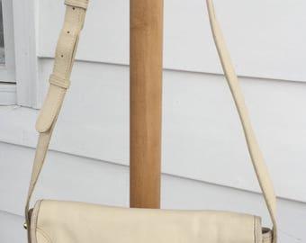 Vintage Aigner White Leather Handbag