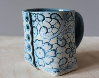 Lace Button Mug
