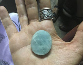 Natural Aquamarine Rare Large Oval  35mm x 27mm