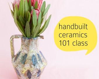 Saturday 2 June AND 16 June workshop: Handbuilt ceramics 101 10am-12noon