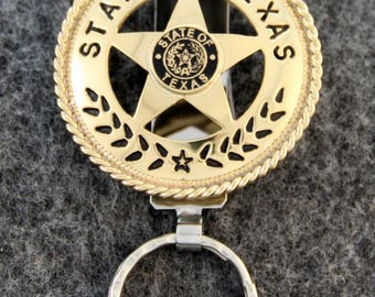 IN STOCK - Unless personalized - Texas State Seal Key Chain -  Texas Star Key Chain - Keychain for Him or Keychain for Her!