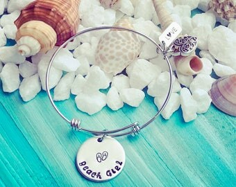 Beach Girl Charm Bracelet | Beach Jewelry | Gift For Beach Lover | Beach Life | Ocean Lover Jewelry Gift | Nautical Jewelry Gift | Florida