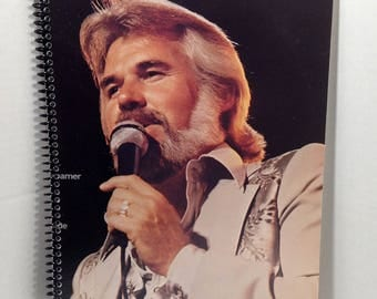 Kenny Rogers Album Cover Notebook Handmade Spiral Journal