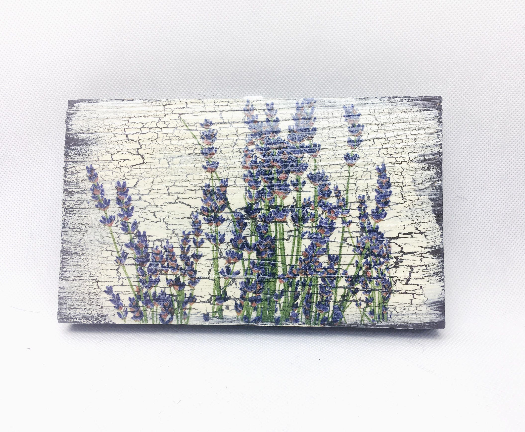 French Lavender Wall Art Kitchen Wall Decor Rustic Wooden Wall