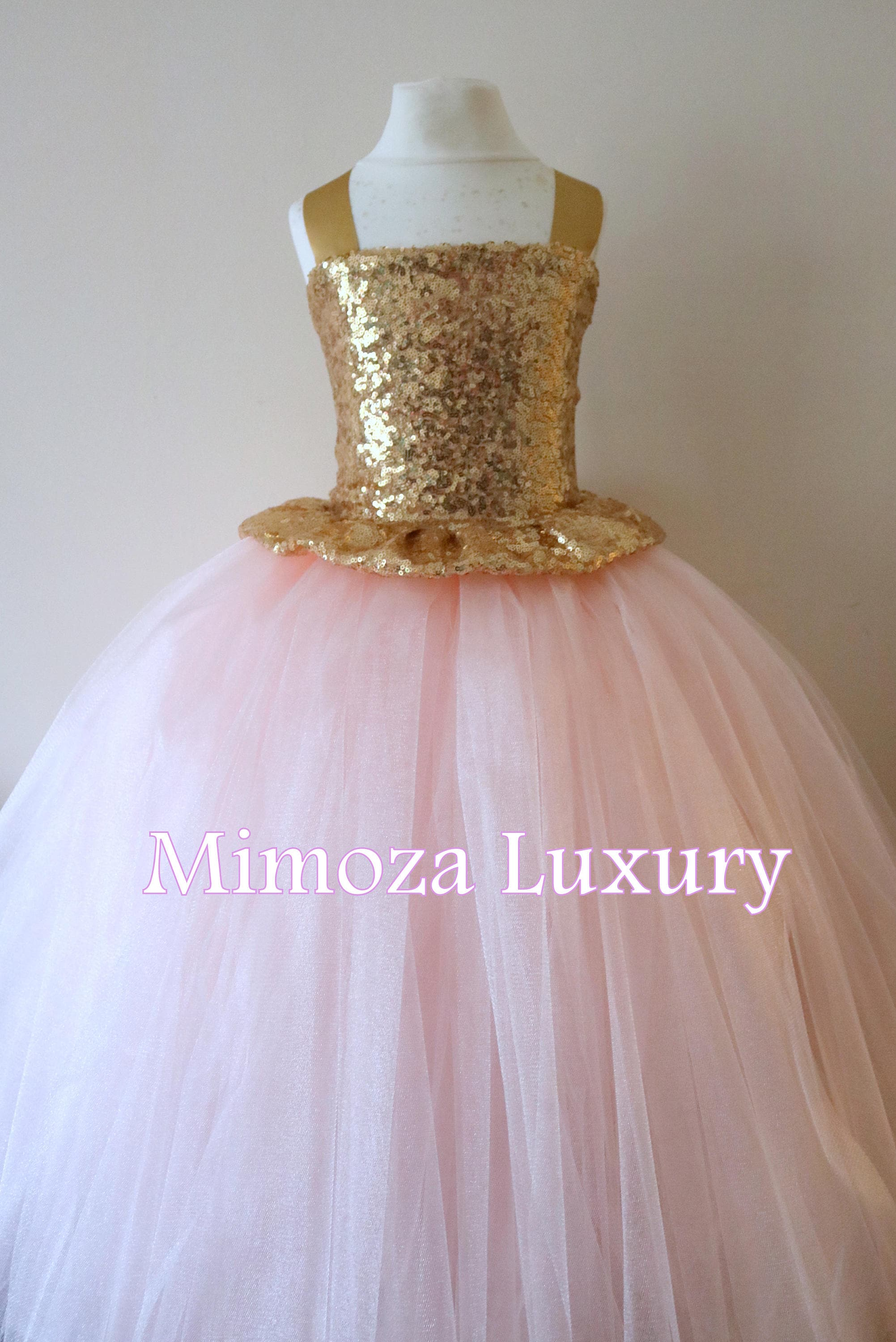 Gold blush flower girl dress gold bridesmaid dress couture gold blush flower girl dress gold bridesmaid dress couture flower girl gown bespoke girls dress tulle princess dress gold blush tutu ombrellifo Gallery