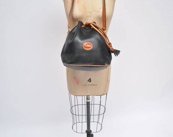 vintage leather purse dooney and bourke bag shoulder made in united states
